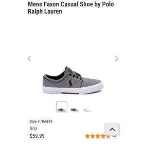 Men's Faxon Casual Grey Polo by Raloh Lauren